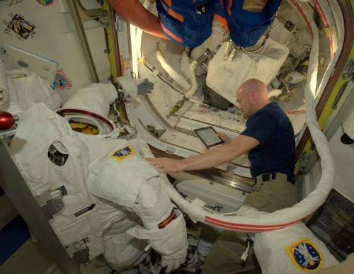 Science and spacewalks on Space Station