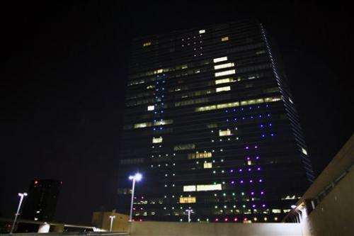 Tetris in the sky: Gamers play on Philly building (Update)