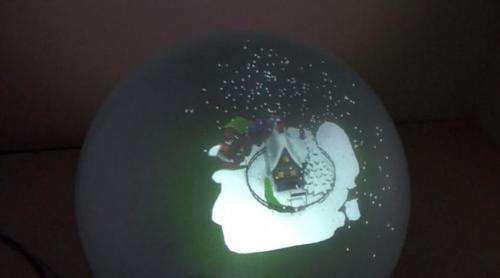 Team shows calibrated multiple-projector spherical display