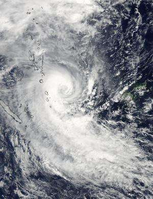 NASA sees Tropical Cyclone Lusi over Vanuatu
