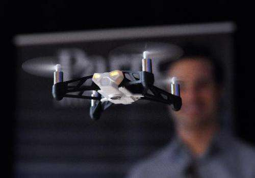 A file picture taken of a remote controlled drone