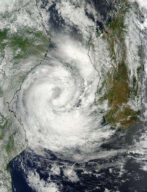 NASA satellite sees a ragged eye develop in Tropical Cyclone Guito