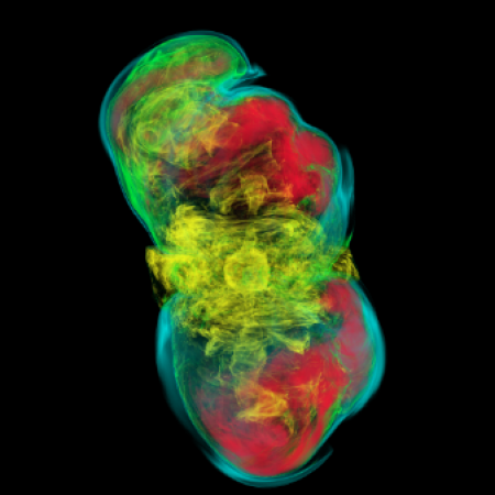 A 3-D model of stellar core collapse