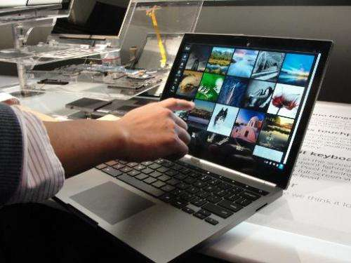 A Chromebook Pixel is on display in San Francisco, on February 21, 2013