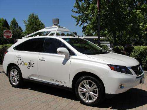 A Google self-driving car is pictured in Mountain View, California, on May 13, 2014