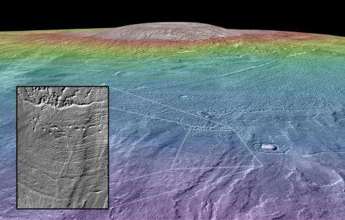 A habitable environment on Martian volcano?