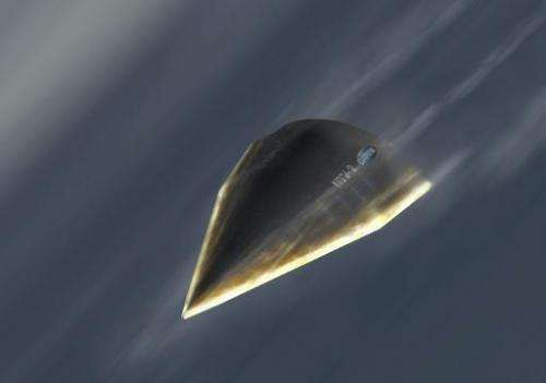An artist's rendering provided by the Defense Advanced Research Projects Agency (DARPA), on April 23, 2012 shows the Hypersonic