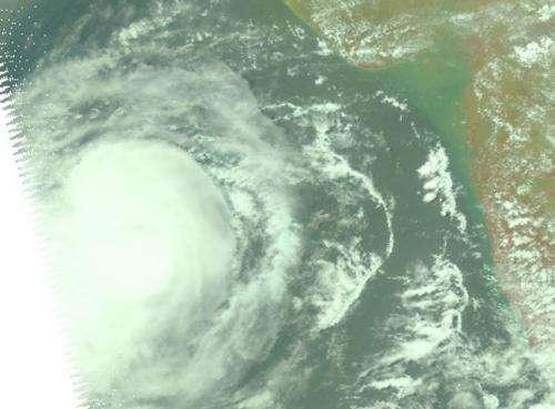 A NASA view of Tropical Cyclone Nanauk in the Arabian Sea