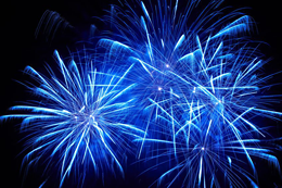 A new blue-light-emitter for fireworks