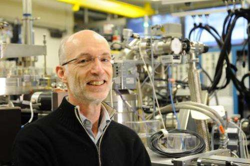 A photo released by Technology Academy Finland (TAF) shows 2014 Millennium Technology Prize winner British physicist Stuart Park