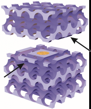 A prison for photons in a diamond-like photonic crystal