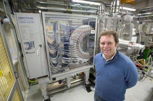 Armin Wagner, Principal Beamline Scientist for I23, with the PILATUS 12M-DLS detector