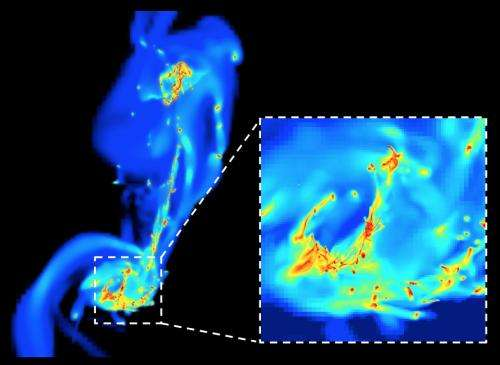A turbulent birth for stars in merging galaxies