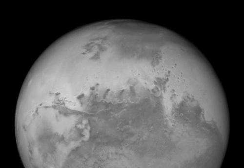 A view of Mars from the Hubble Space Telescope's Advanced Camera for Surveys, released on August, 27, 2003