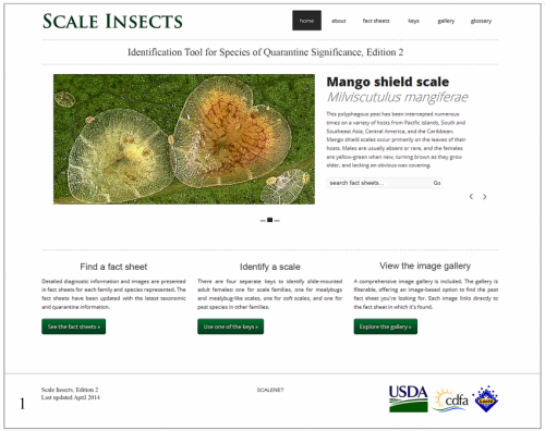 A website to help safeguard the United States borders against alien scale insect pests