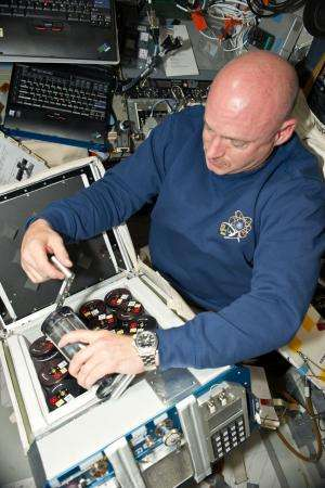 Beating bacteria on Earth -- and in space