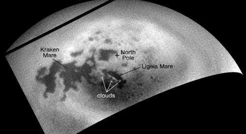 Cassini tracks clouds developing over a Titan sea