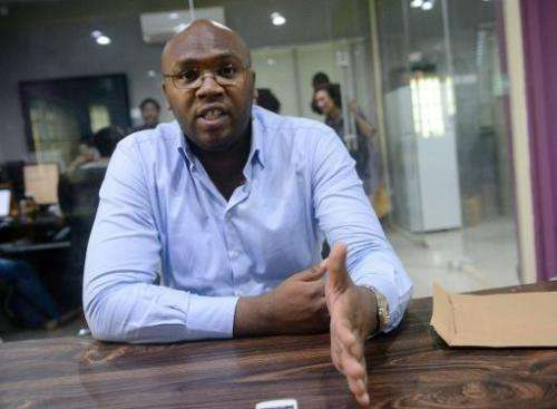Co-founder and CEO of iROKO Jason Njoku during an interview in Lagos on March 27, 2014