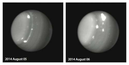 Cosmic matters: Stormy weather on Uranus