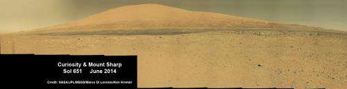 Curiosity Captures Stunning New Mount Sharp Panorama 'On The Go'