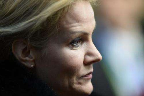 Danish Prime Minister Helle Thorning-Schmidt arrives for an EU summit in Brussels on December 20, 2013