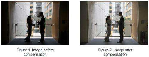 Development of visibility enhancement for projector display in bright rooms