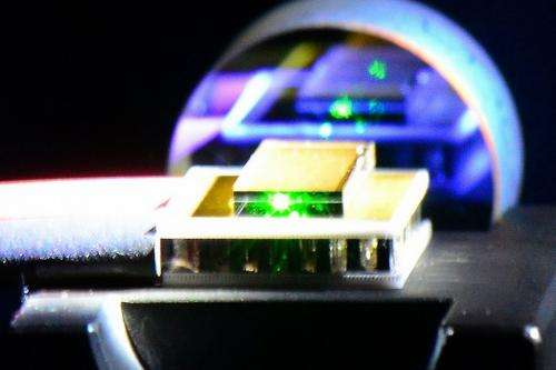 Diamond makes laser beams more brilliant