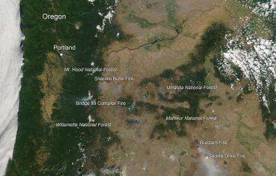 Dozens of fires plague Oregon