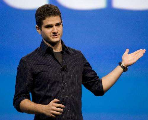 Dustin Moskovitz, co-founder of Facebook, delivers a keynote address at a conference on October 24, 2007 in San Francisco, Calif