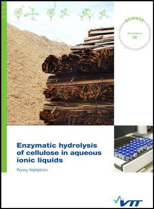 Enzymatic hydrolysis of cellulose in aqueous ionic liquids