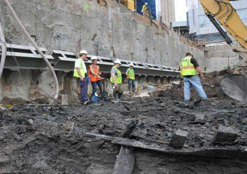 Excavated ship traced to colonial-era Philadelphia