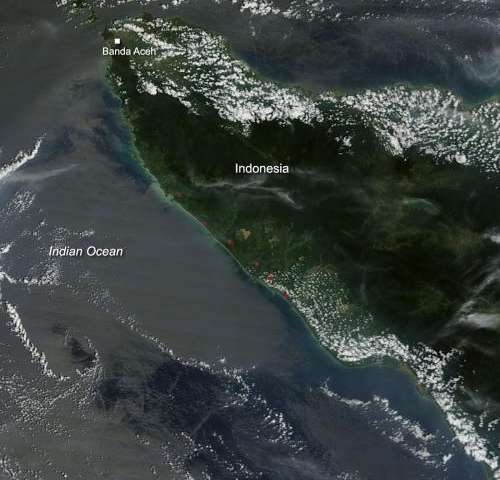 Fires in Northern Sumatra