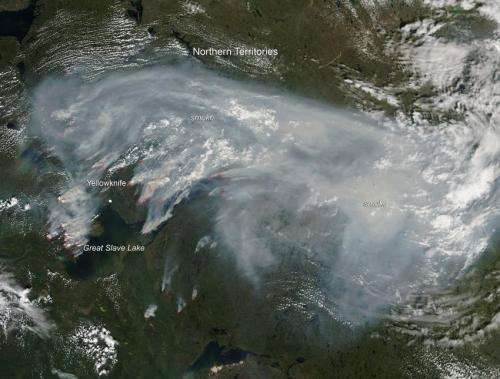 Fires in the Northern Territories July 2014