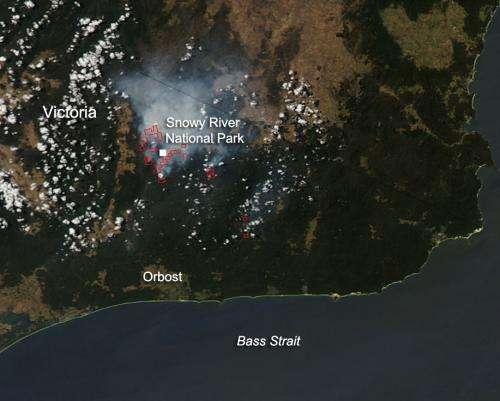 Fires in Victoria, Australia, Feb. 6, 2014