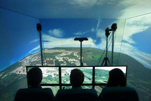 Flying in comfort using virtual reality