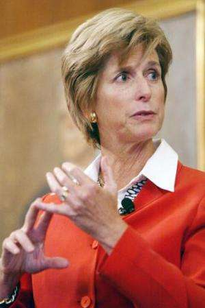 Former Environmental Protection Agency (EPA) administrator Christine Todd Whitman speaks at the Council on Foreign Relations on