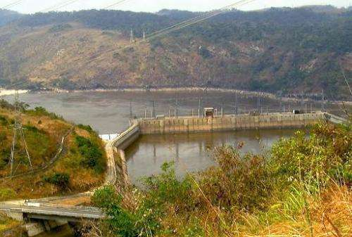 General view of Inga hydroelectric dam, west of Democratic Republic of Congo's capital Kinshasa, on August 15, 2011