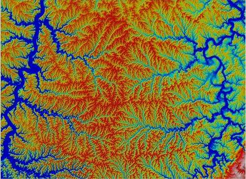 Researchers calculate how river networks move across a landscape