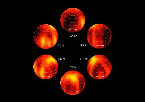 First weather map of brown dwarf