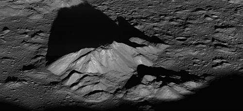 Image: Lunar Reconnaissance Orbiter's view of Tycho central peak