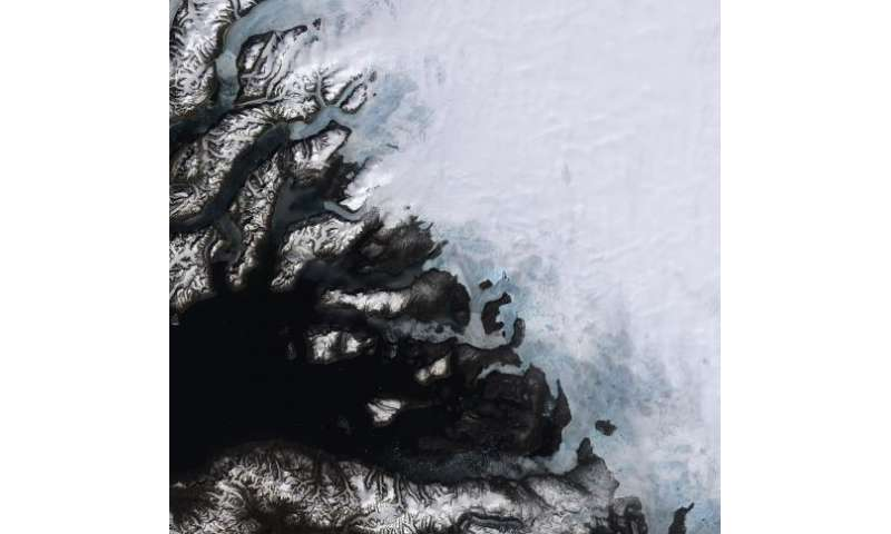 Image: Southwestern coast of Greenland captured from orbit