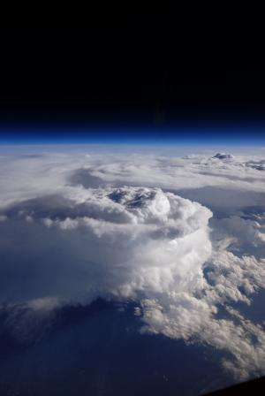 Image: Storm cell over the Southern Appalachian mountains