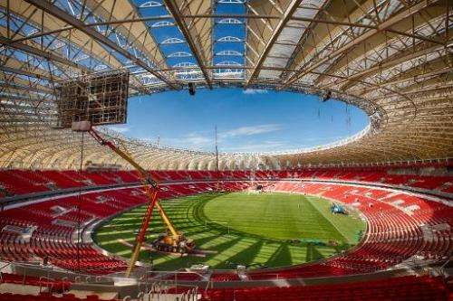 Inside view of the Beira Rio stadium in Porto Alegre, Brazil, pictured on January 31, 2014