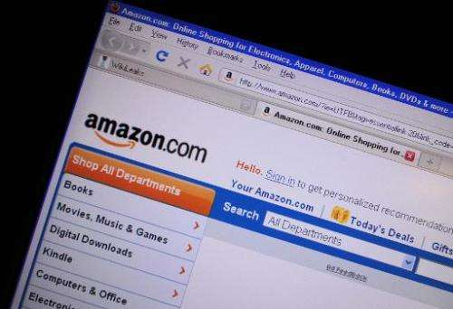 Internet site of Amazon.com show in this file photo from December 9, 2010