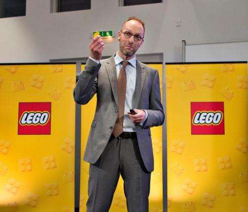 Joergen Vig Knudstorp, CEO of LEGO attends a press conference on February 27, 2014 in London