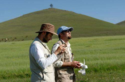 Archaeologist 'digs' using drone for fieldwork in Armenia