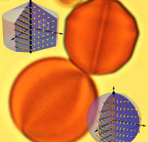 Liquid crystal turns water droplets into 'gemstones,' penn materials research shows