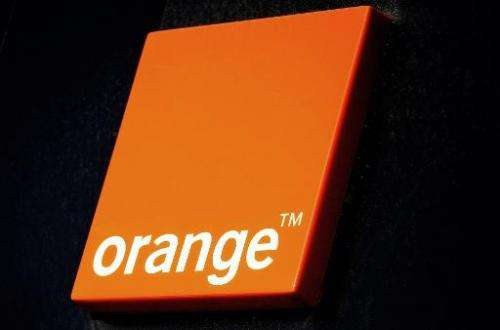Logo of French internet provider and mobile phone services group Orange in Dunkerque, France, on December 19, 2013 in Dunkirk