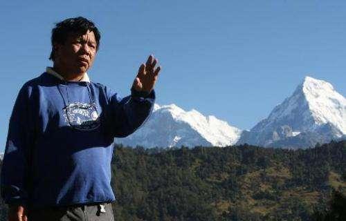 Mahabir Pun in the village of Nagi, 200 km west of Kathmandu, on October 25, 2010