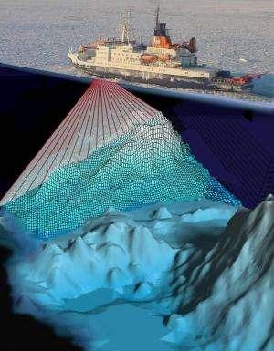 Megascale icebergs run aground